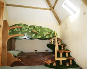 tree bunk bed at higher lank farm holidays