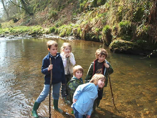 pond dipping at higher lank farm, near bodmin