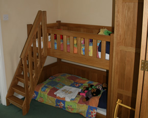 bunk beds at higher lank farm, toddler-friendly farm holidays in cornwall