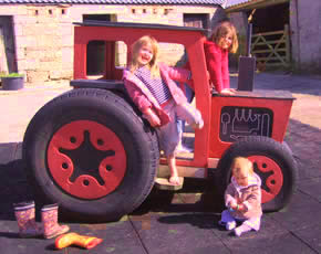 play tractor suitable for babies, toddlers and small children at higher lank farm holidays