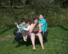 new nest swing at higher lank farm holidays near bodmin