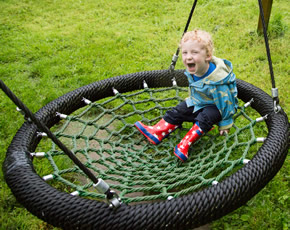 rope swing at higher lank farm holidays for families with small children