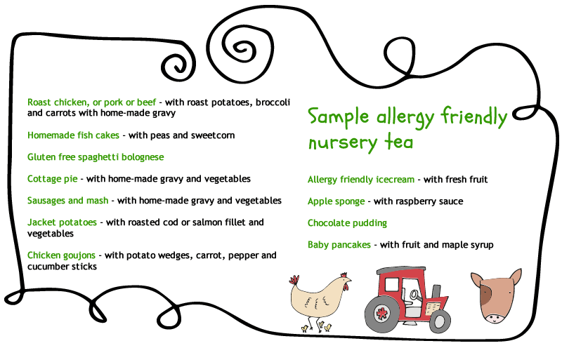 allergy friendly food at higher lank farm
